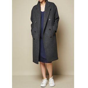 ACHRO Wool Blend Long Oversized Coat Gray Women's Size L